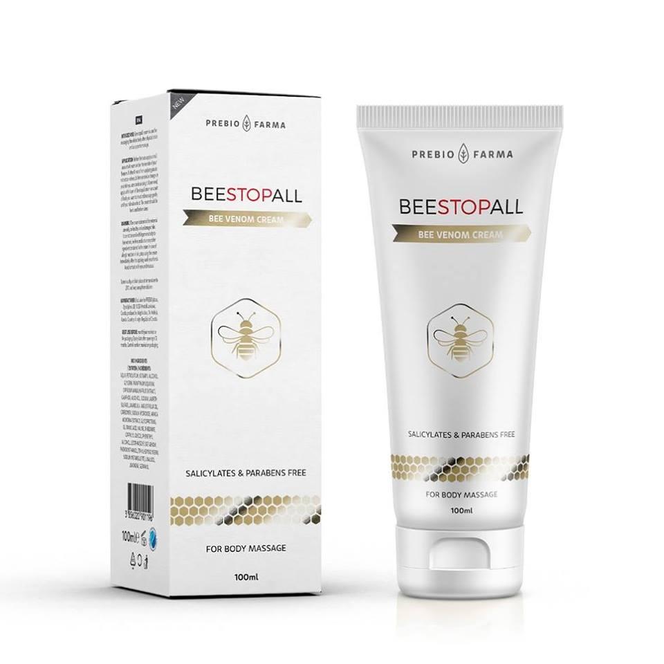 Beestopall je ljekovita, prirodna krema za masažu na bazi pčelinjeg otrova, snižava krvni tlak, regulira metabolizam, poboljšava san, stimulira srčani mišić i normalizira ritam srca.