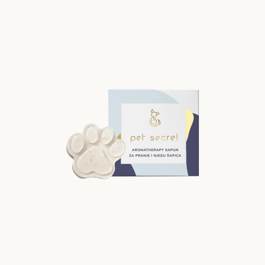 100% prirodni Aromatherapy sapun za pranje i njegu šapica psa, koji učinkovito uklanja prljavštinu nakon šetnje i boravka u prirodi.