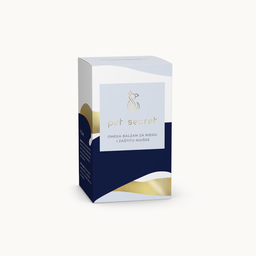 Omega balzam za njegu i zaštitu njuške je 100% prirodan proizvod od čistih i hladno tiještenih biljnih ulja i maslaca