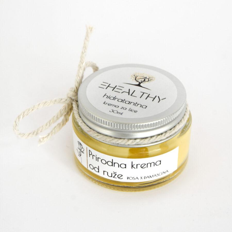 E-healthy hidratantna krema od ruže s anti age učinkom idealna za suhu kožu kao i za ostale tipove kože kojoj treba dodatna vlaga.