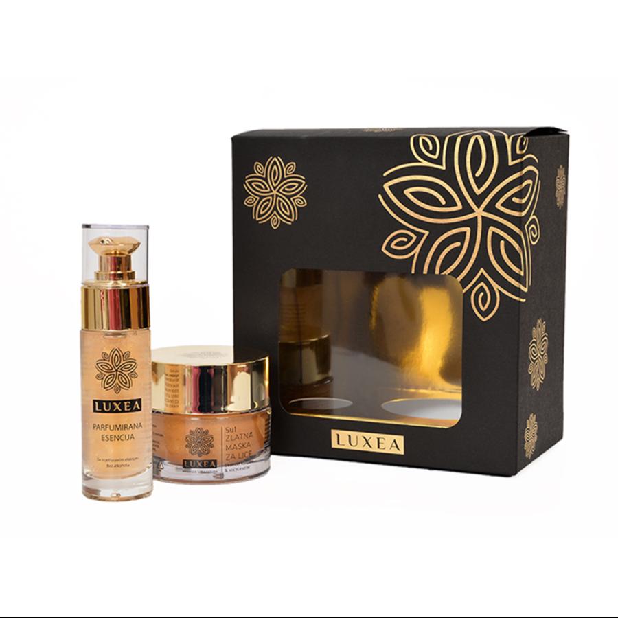 Zlatna maska za lice - poklon paket