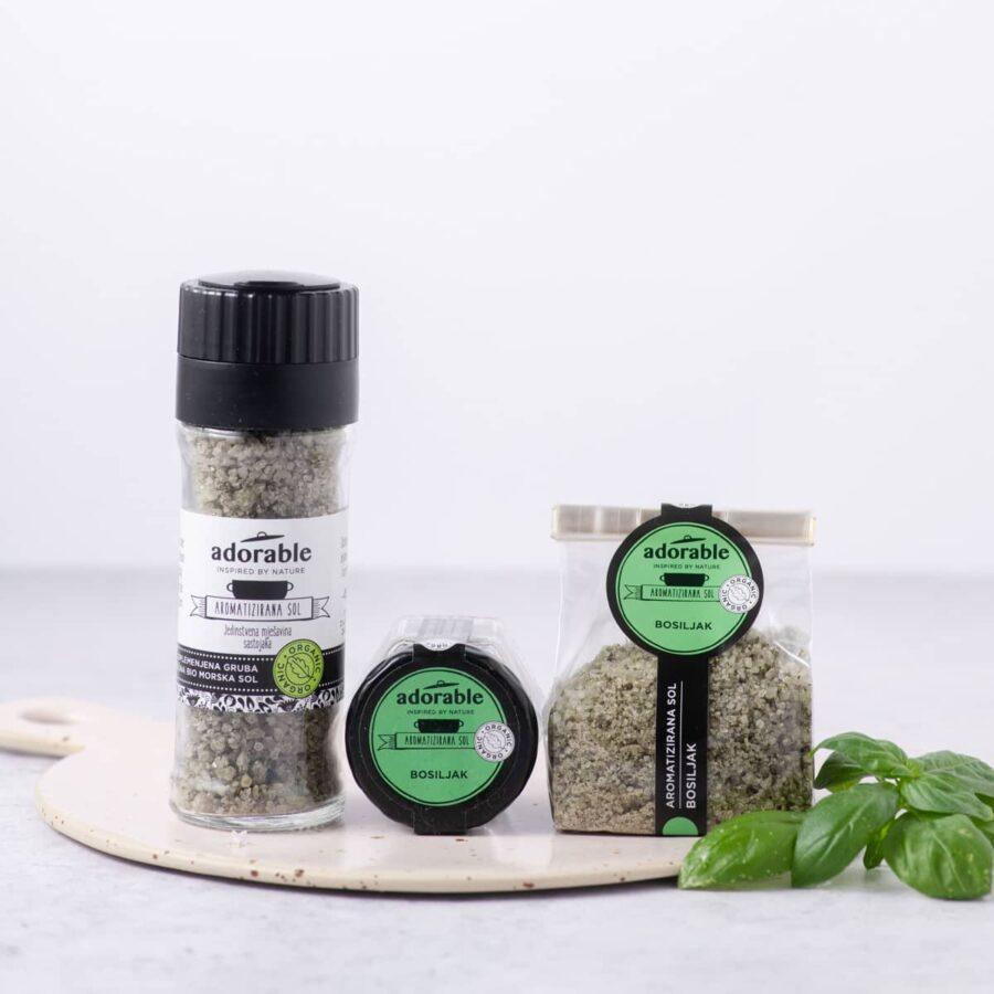 Aromatizirana sol s bosiljkom