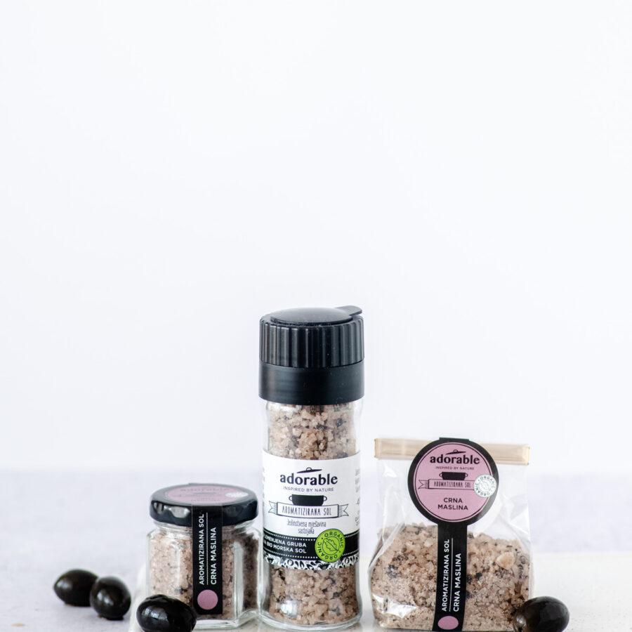 Aromatizirana sol s crnom maslinom