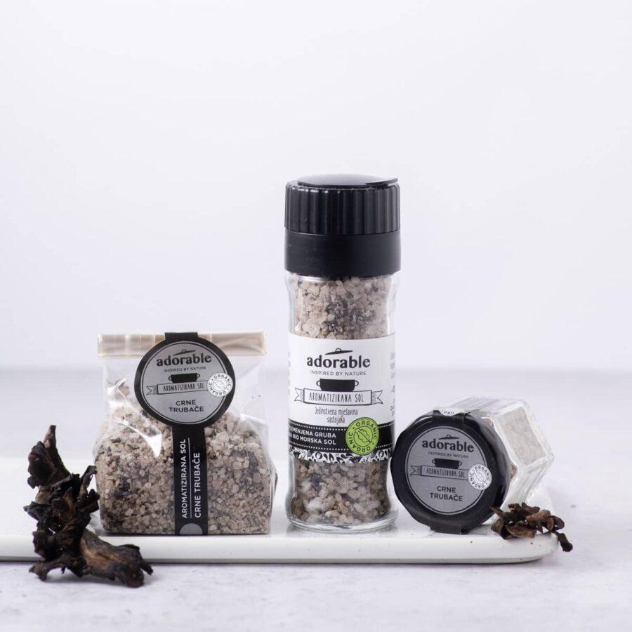 Aromatizirana sol s crnim trubačama