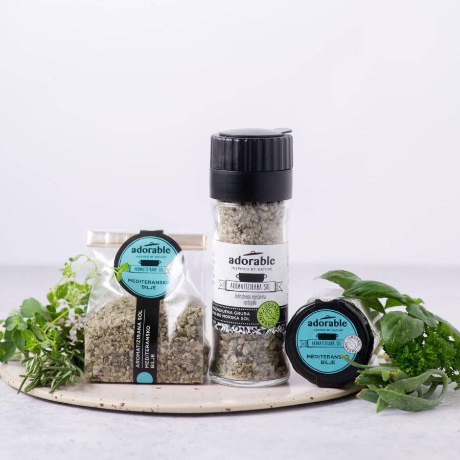 Aromatizirana sol s mediteranskim biljem