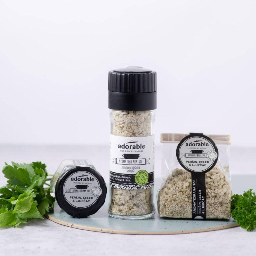 Aromatizirana sol s peršinom, celerom i ljupčacem