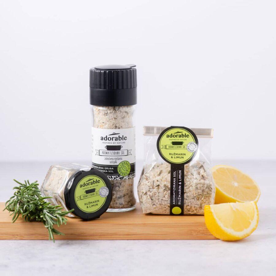 Aromatizirana sol s limunom i ružmarinom